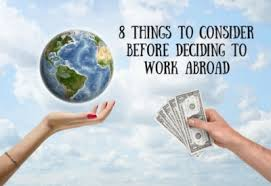 8 Things to Consider Before Deciding to Work Abroad – Coburg Banks